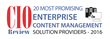WebTek Consulting LLC Named to CIOReview's 20 Most Promising Enterprise Content Management Solution Providers 2016