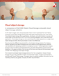 Principled Technologies Releases Research Paper: Choosing a Cloud Object Storage Solution