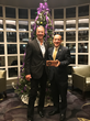 Operation Homefront CEO and President, John I. Pray, Jr. (left) with Ken Ruff, Vice President of national accounts at Beam Suntory (right) after Ken was given a cornerstone award for his work in making Holiday Meals for Military come to life.