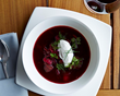 A favorite in Eastern Europe, Coffeemania's Borsch is a tasty option for lunch or dinner.