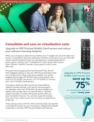 Upgrade to HPE ProLiant BL460c Gen9 blade servers and save up to 75% on VMware vSphere software support every year
