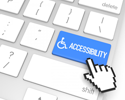 keyboard with accessibility button