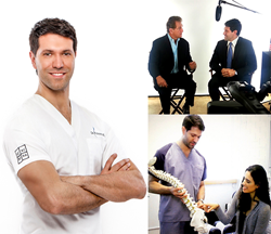 Dr.Theo Kousouli educates those who seek better spiritual, emotional, and physical connection with their body. Dr. Kousouli is the developer of the Kousouli Method, a complete heali Dr.Theo Kousouli pictured being interviewed by NFL Champion Joe Theismann