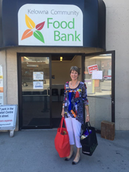 Kelowna Hotel dropped by the Central Okanagan Community Food Bank to donate more than $1,300 from its Jeans Day program.