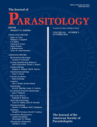 The Journal of Parasitology cover