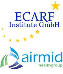 ECARF and airmid healthgroup logos