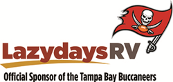 Lazydays RV, Official Sponsor of the Tampa Bay Buccaneers