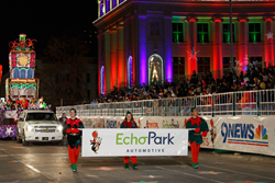 EchoPark Headlines 9News Parade of Lights with iconic Clock Tower Float