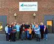 The Menomonie Chamber of Commerce holds reception and ribbon cutting for new business, Agile Consulting.