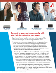 Take advantage of the latest connectivity technologies with a Dell laptop and dock solution
