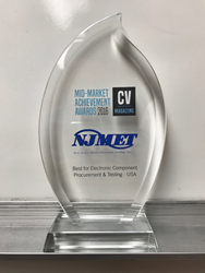 NJ MET win tCorporate Vision Magazine 2016 Mid-Market Achievement Award