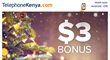 Kenyan Expats Worldwide Receive up to 30 International Calling Minutes on Every $20 Voice Credit Purchase on TelephoneKenya.com before the New Year