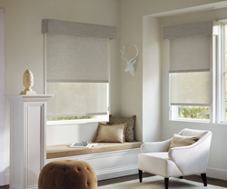 Hunter Douglas Designer Screen Shades offer a clean, streamlined look at the window.
