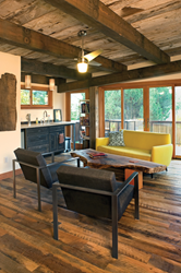 A leader in the reclaimed wood industry, Pioneer Millworks offers more than 20 species and grades of storied wood for flooring, paneling, and more.