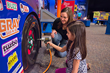 Challenge the family to a pitstop competition inside Hot Wheels: Race To Win
