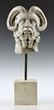 19th century or earlier carved marble head of a mythological figure from a Rome, Italy estate.