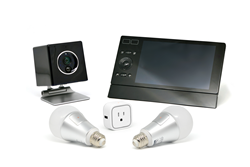 Cube, Touch, Infinity Dock, Two Bulbs and Plug