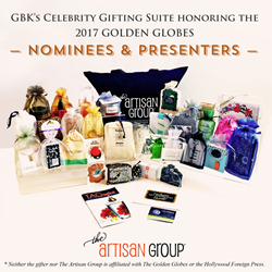 The Artisan Group's Swag Bag for GBK's Celebrity Gift Lounge Honoring the Nominees & Presenters of the 2017 Golden Globes