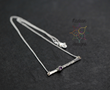 Sterling silver hammered, hand-forged bar necklace.