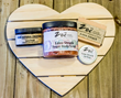 Love Struck Sugar Body Scrub, Body Butter, Bar Soap and Lip Balm. All from Zoe Natural Creations.
