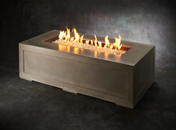 linear cove fire pit