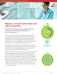 See how companies can migrate VMs 70% faster and with no downtime