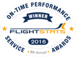 FlightStats 2016 Airline On-Time Performance Service Award Winners Announced
