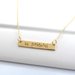 Be Grateful Hand-Stamped Necklace from DesignMe Jewelry