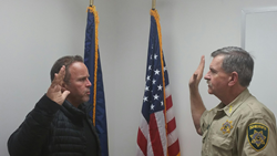 Lloyd Claycomb sworn in by Sheriff Wheeler of Bonner County