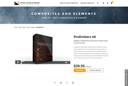 FCPX Plugin - ProEmbers 4K - Pixel Film Studios