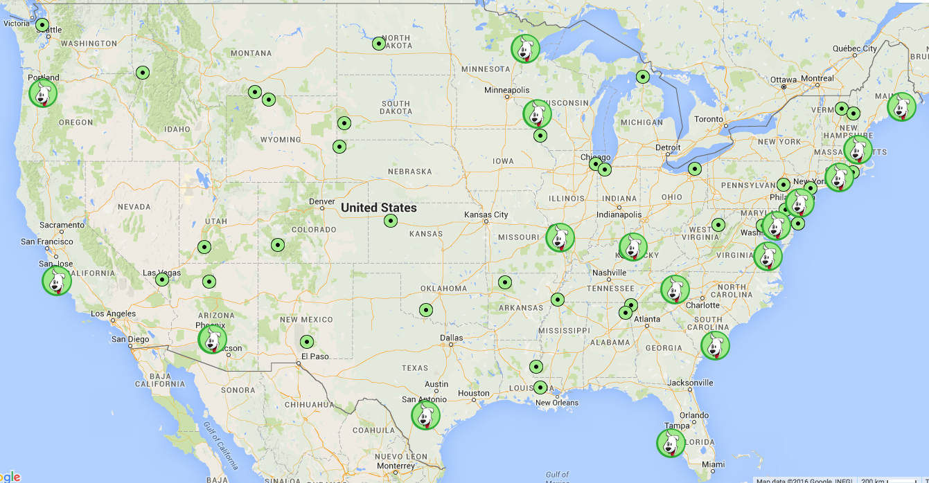 GoPetFriendlycom Announces List Of Top Pet Friendly USA - Us map best roadtrip map