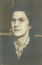 Virginia Tucker at her desk at Langley in 1946.
