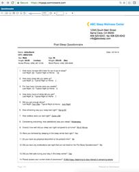 Online Customizable Patient Questionnaire