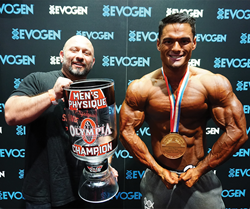 Evogen Nutrition Announces 2017 Contract Extention of 3x Olympia Physique Champion Jeremy Buendia