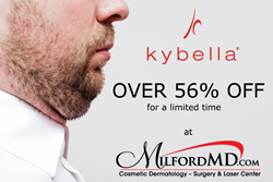 Save over 56% on Kybella double chin treatment at MilfordMD.com