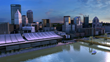 Pittsburgh scene built with Conform. The base environment of this game quality scene was created in Conform, exported to OBJ, then imported into the Unreal Engine.