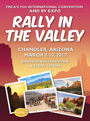 FMCA's Rally in the Valley will be held in Chandler, Arizona, a suburb of Phoenix.