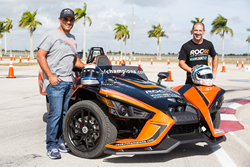 Pictured with the Polaris Slingshot SLR (Left to Right): Indy 500 Champions Juan Pablo Montoya & Tony Kanaan