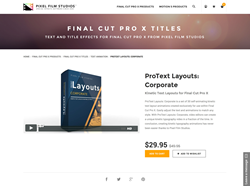 FCPX Plugin - ProText Layouts Corporate - Pixel Film Studios