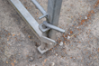 4D Gate Support is a small metal rod that can be placed underneath the edge of the gate.