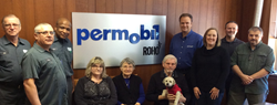 Current Prairie employees meet with two of the Permobil team.