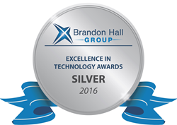 Brandon Hall Group Excellence in Technology Awards Silver 2016