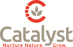 Catalyst logo - manufactures custom animal feed