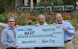 Giving Back Group Partners With Native American Rights Fund