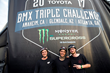 Monster Energy Sweeps the Podium at the Inaugural Toyota BMX Triple Challenge at Monster Energy Supercross in Anaheim