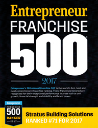 Stratus Building Solutions Franchise 500 2017 Ranking