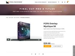 FCPX Overlay Mystique 5K - FCPX Plugin - Pixel Film Studios