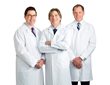 (From left to right): Gregory J. Panzo, M.D., Jeffrey D. Baumann, M.D. and Keith C. Charles, M.D
