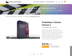 FCPX - ProSidebar Fashion Volume 2 - Pixel Film Studios Plugin