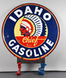 Idaho Chief Gasoline Identification Porcelain Sign, Estimated at $10,000-20,000